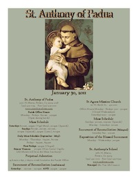 St. Anthony of Padua Sunday Bulletin