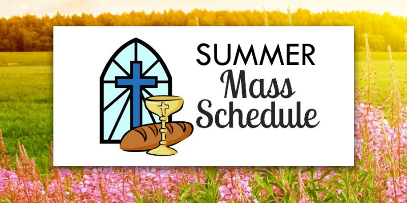 Image result for summer mass schedule