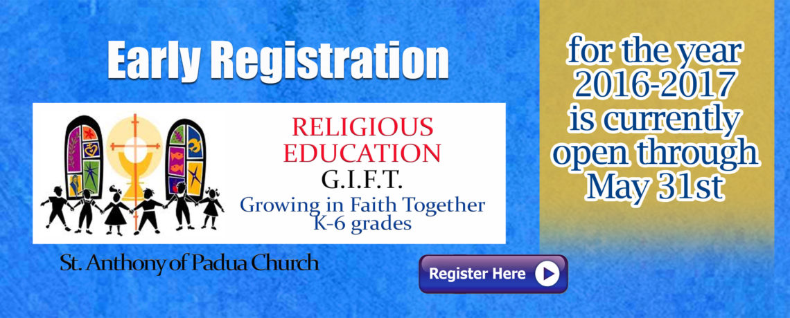 GIFT EARLY REGISTRATION